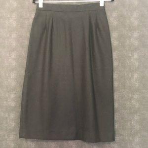VINTAGE▪️Sag Harbor Black Wool Midi Straight Skirt